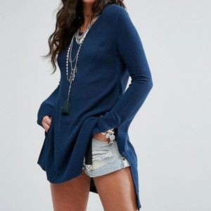 Free People Criss Cross Tunic Sweater